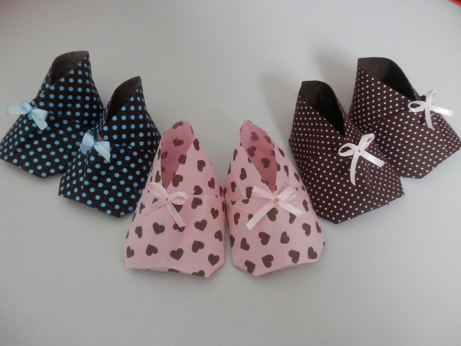 Origami. Orinuno - Sapatinho de bebê