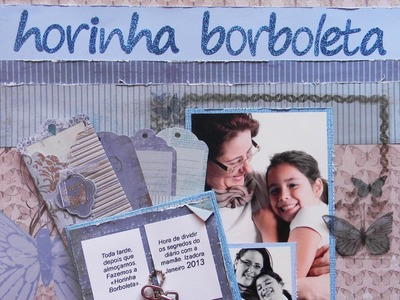 Página Scrapbook com mini livro EP10 - Flavia Terzi.TV