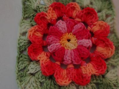Passo a passo Flor de Outono em Crochê