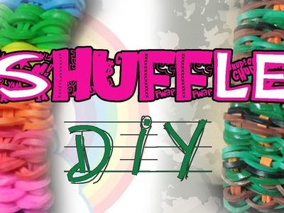 Pulseira SHUFFLE - Tutorial - DIY LOOM - pt.pt pt.br