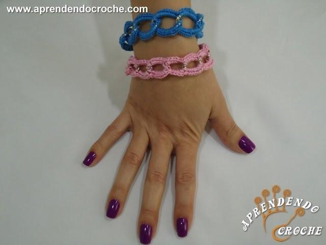 Pulseiras de Croche Coloridas - Aprendendo Crochê