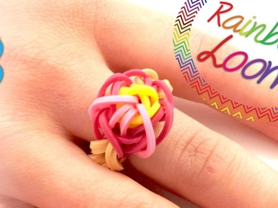 Rainbow Loom - Anel de Flor