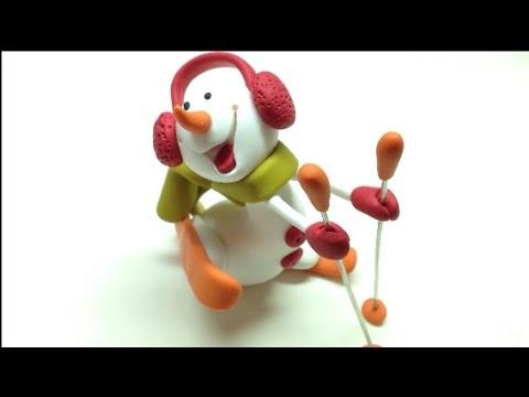 Snowman. Boneco de neve - Polymer clay (Fimo)