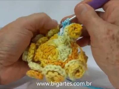 Aprenda a fazer: Flor Brinco de Princesa BIG artes.com.br
