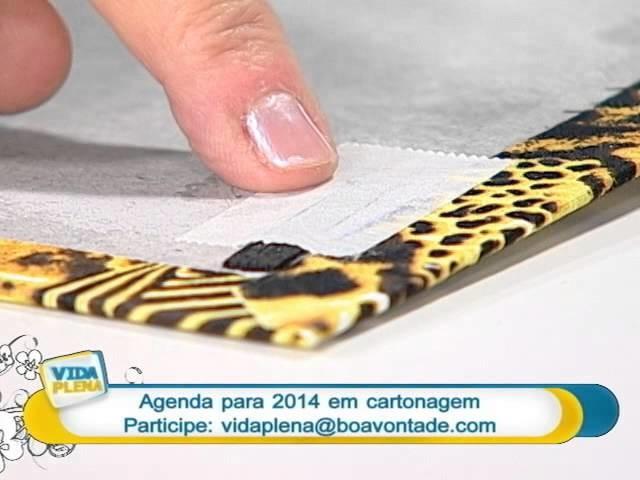 Artesanato - Agenda em cartonagem