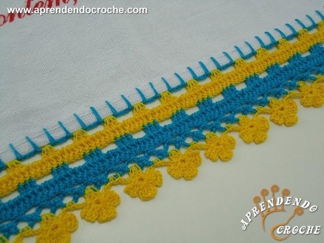 Barrado de Croche Trevos - Aprendendo Crochê