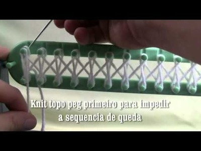 Bernat tear tricô tutorial - A Multidão Crochet