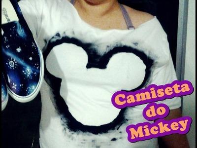 Camiseta do Mickey Customizada Por LariKoze [faça você mesmo]