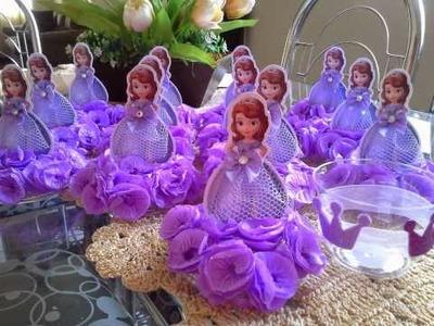 Centro de Mesa Para Festa Infantil Princesa Sofia