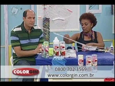 Colorgin no Ateliê na TV - Luminária feita com canudos de papel