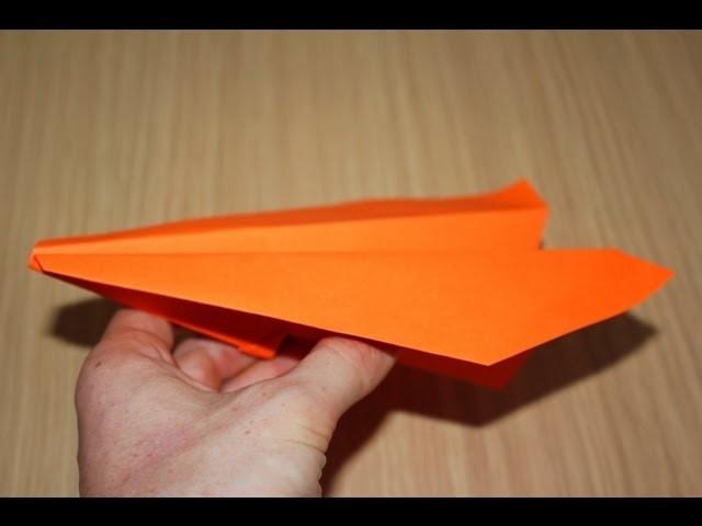 Como fazer um avião de papel que vai e volta