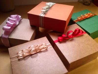 Como fazer um laço rápido de caixa de presente em um minuto