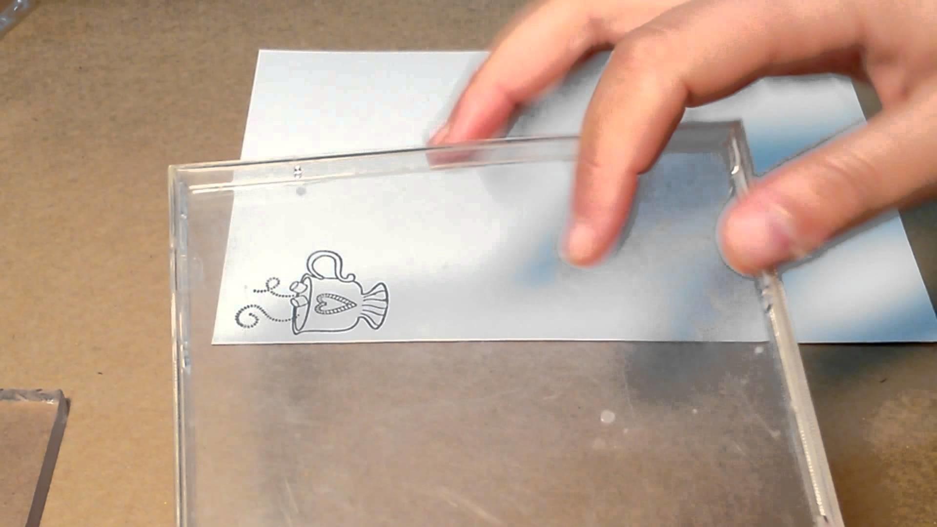 Como usar carimbo de silicone com bases alternativas
