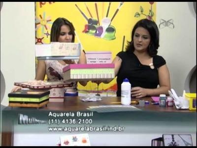 Mulher.com 03.08.2012 Marisa Magalhães - Caixa com Scrapdecor 02