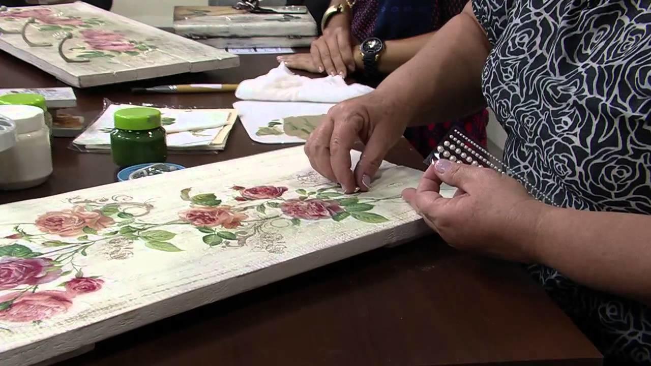 Mulher.com 13.05.2014 - Cabideiro Palets reciclados por Rose Rodrigues parte 02