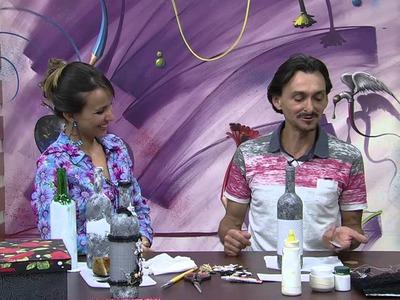 Mulher.com 23.09.2014 - Garrafa em Patch Decor por Ricardo Muraca - (Parte 2.2)