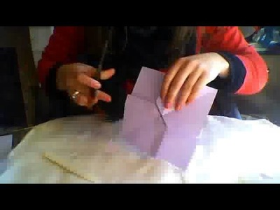 Origami Bow for scrapbooking - Tutorial
