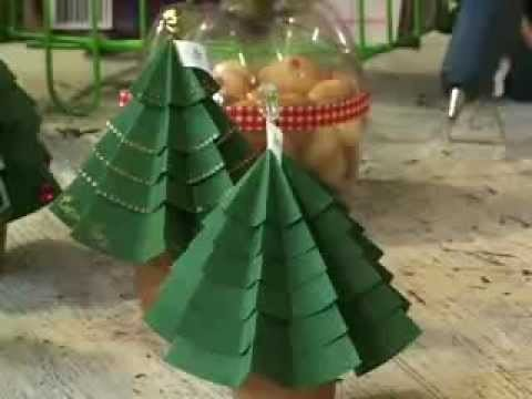Pati Fugisse . Programa Tudo Artesanal . Árvore de Natal em Origami