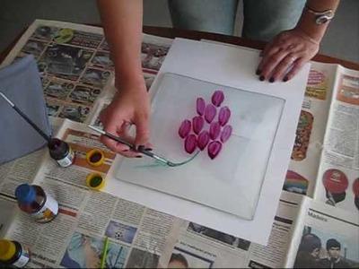Pintura sobre o vidro