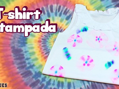 Tie Dye T-shirt tutorial  – How to | T - shirt Estampada - Portuguese Arts & Crafts