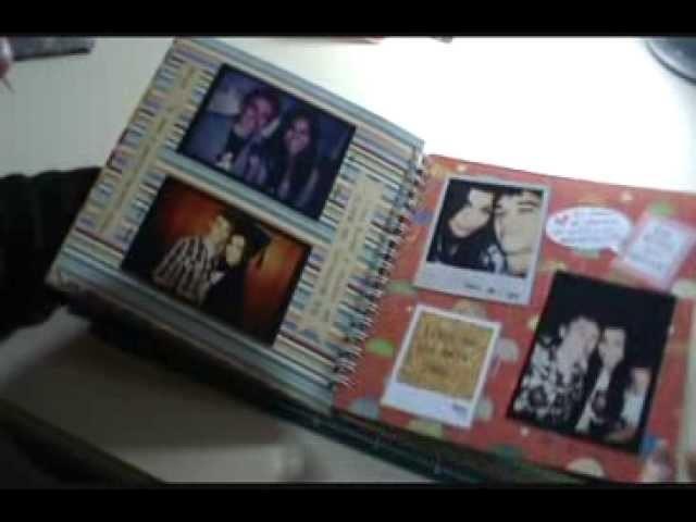 Álbum de scrapbook - 1 ano de namoro!