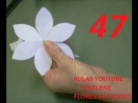 AULA 47: Como fazer moldes das flores, que linhas e colas usar (atendendo pedidos)