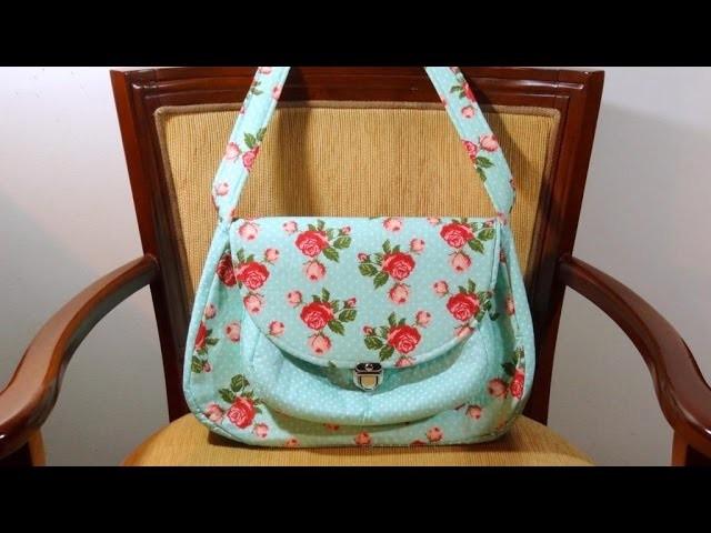 Bolsa das Rosas Vermelhas - Maria Adna Ateliê - Cursos e aulas de bolsas em tecido no ateliê