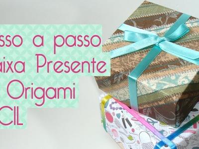 Caixa Presente Fácil de Origami- faça você mesma- Scrapbook by Tamy
