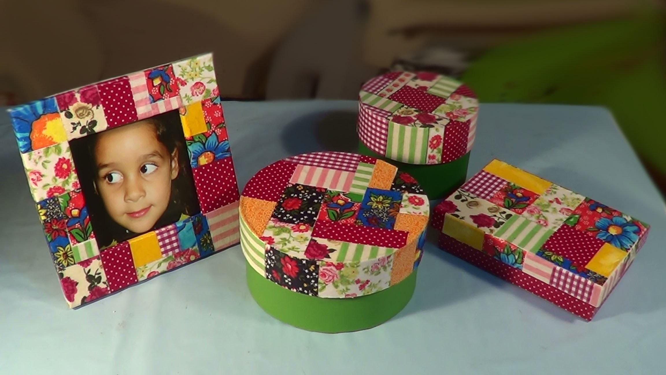 Caixa redonda PARTE 2 - Patchwork. Round Box Part 2 - Caja redonda Parte 2