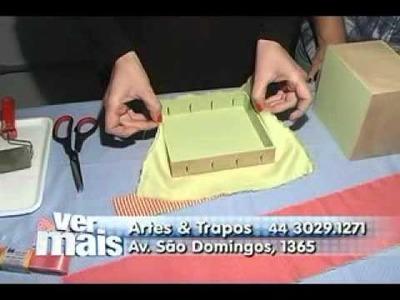 COMO DECORAR UMA CAIXA DE MADEIRA COM TECIDO - VER MAIS MARINGÁ