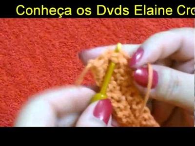 CROCHE PARA CANHOTOS - LEFT HANDED CROCHET - ARREMATE PONTO BAIXO