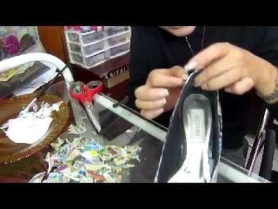 Customização:colando gibi em sapato!!!