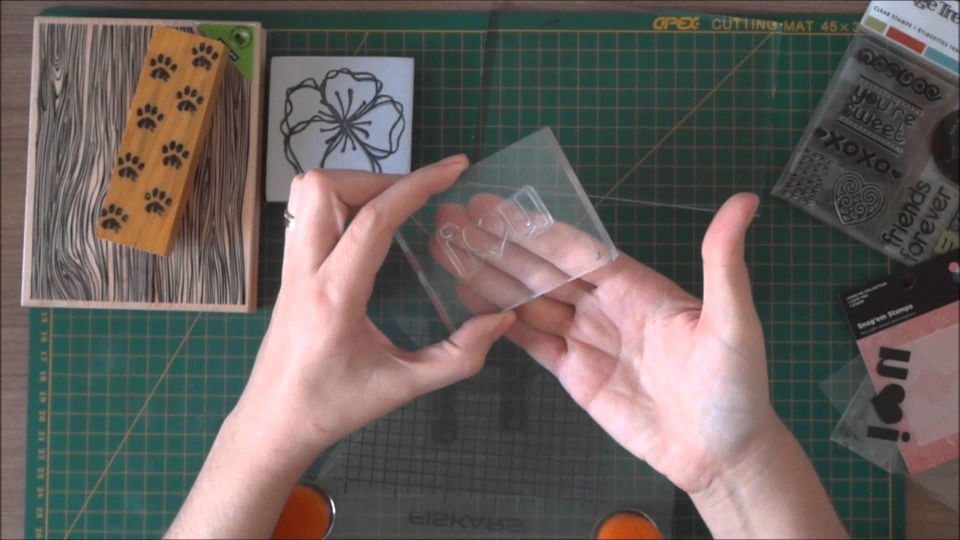 Diferenças dos carimbos usados em Scrapbook
