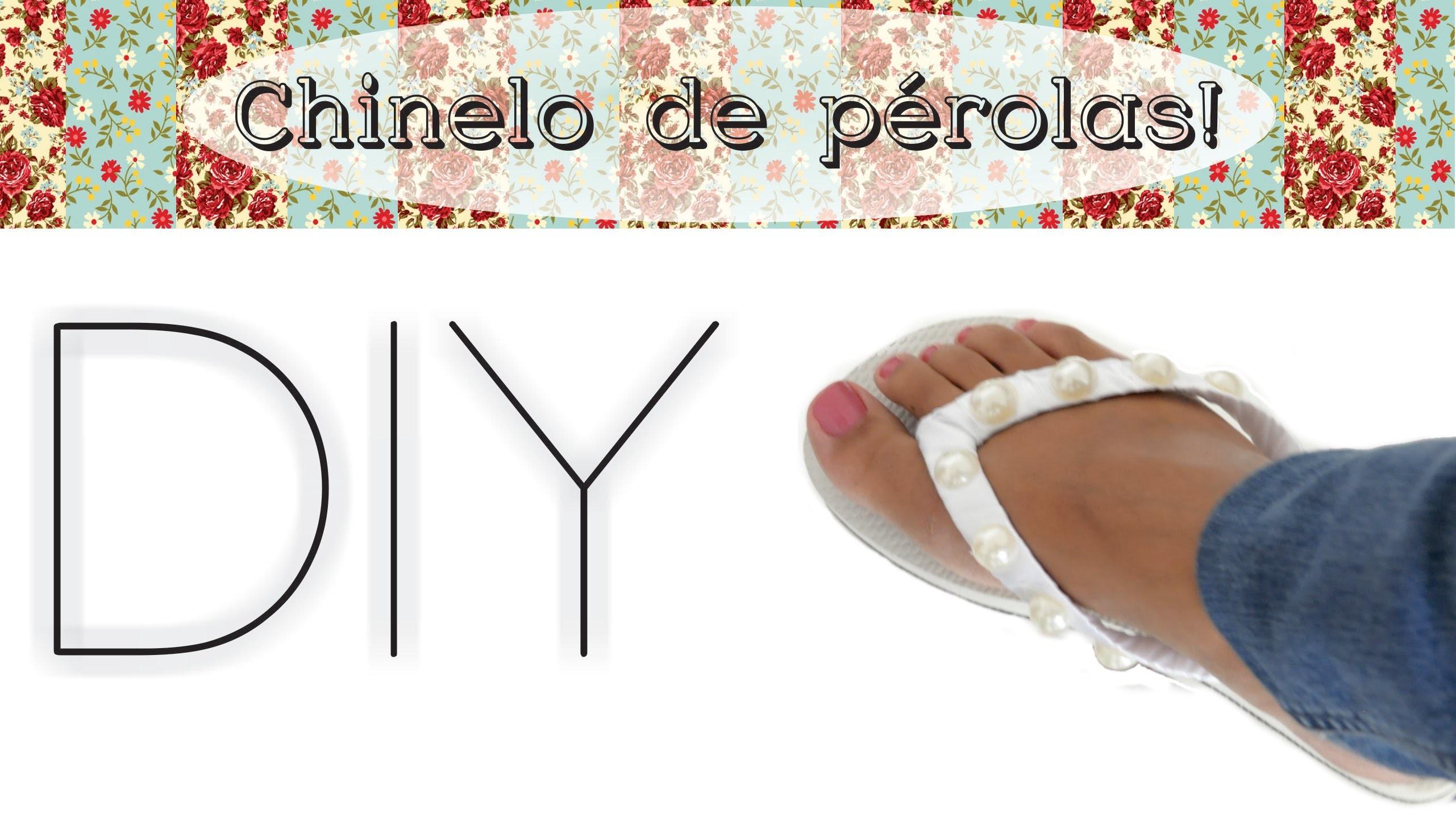 DIY Customize seu chinelo - Super simples! - MarianaBraga