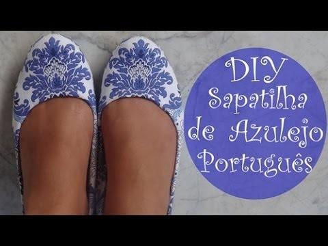 ✂ DIY | Sapatilha de Azulejo Português por Ludmila Maltez