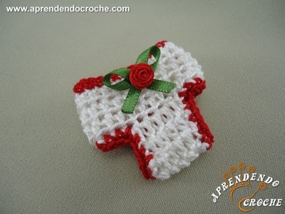 Lembrancinha Nascimento em Croche - Mini Calcinha - Aprendendo Crochê