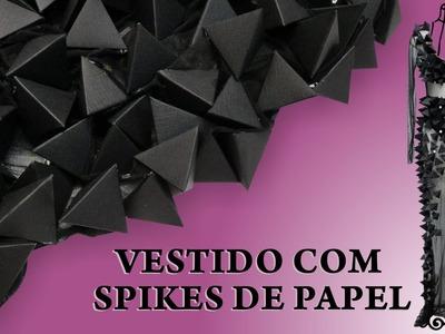 Passo a Passo Vestido com Spikes de papel