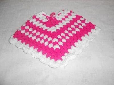 Poncho em crochê para crianças muito facil e bonito Parte 2 - Crochet Poncho - Gancillo Poncho -