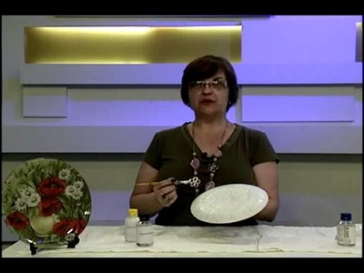 PRATO DECORADO COM GUARDANAPO DE GIRASSÓIS