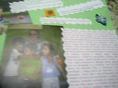 Scrapbook  em homenagem à amiga  Siba