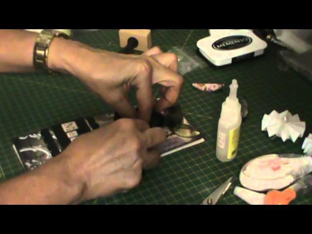 SCRAPBOOKING: Mini álbum sanfonado tutorial parte 2