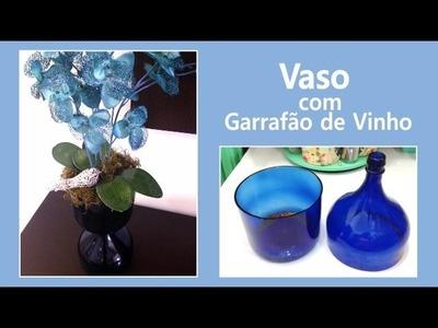 Vaso com Garrafão de Vinho