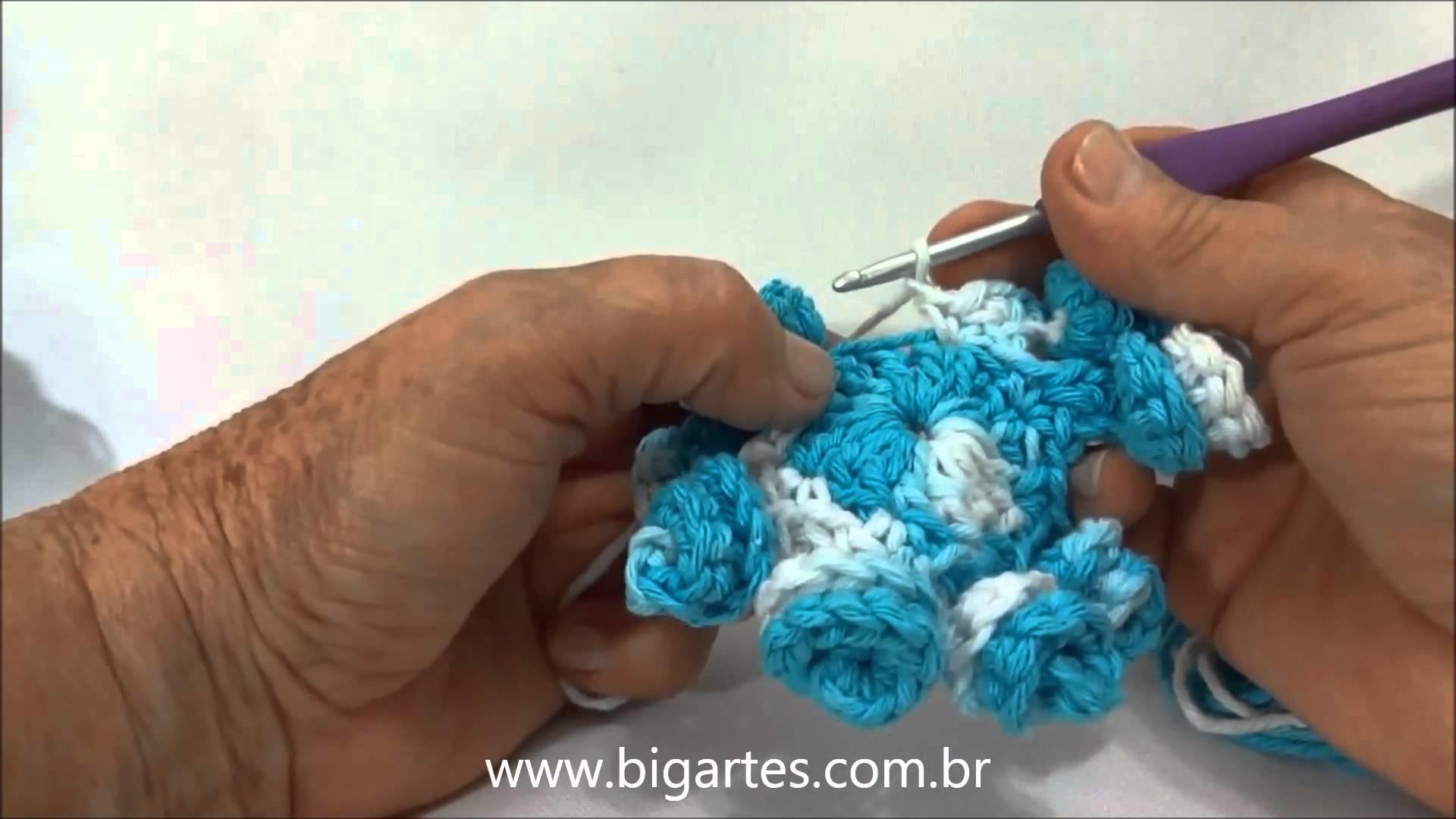 Aprenda a fazer: Flor Rocoquinha BIG artes.com.br