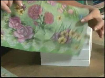 Caixa chá com guardanapo florido - Daiara
