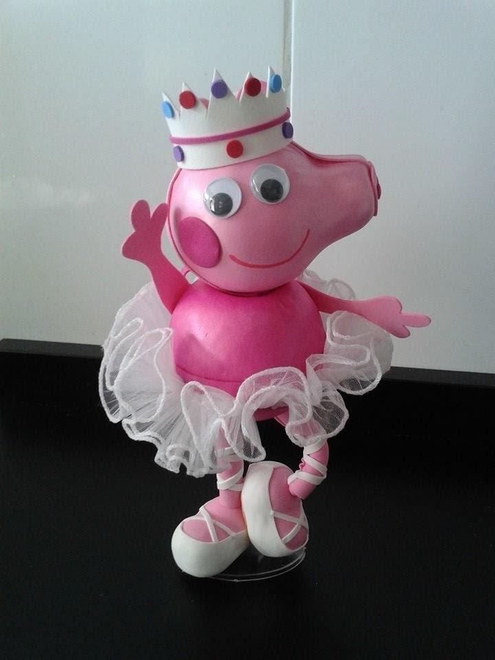 Como fazer Peppa Pig Bailarina em eva 3d (2ª versão da Peppa) by Vivian Balaban