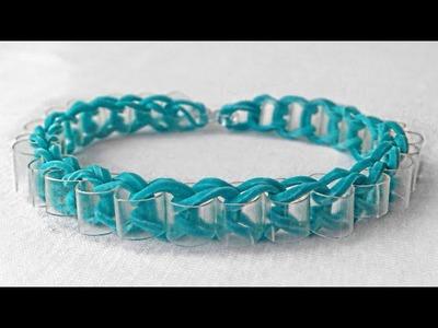 Como fazer pulseiras de elástico: Pulseira com Canudinho #LoomBands (sem tear)
