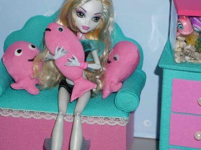 Como fazer sofá para boneca Monster High Lagoona Blue