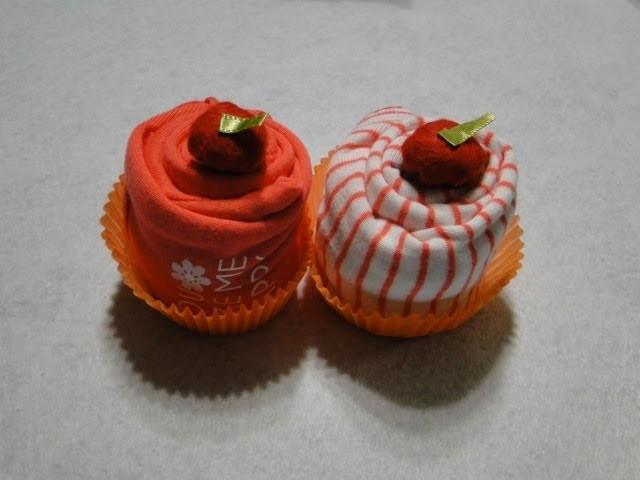 Cupcake de body de neném - Passo a passo