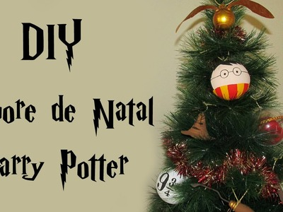 DIY: Árvore de Natal do HARRY POTTER (Christmas Geek Tree Decor - Enfeites Nimbus 2000, Pomo. )