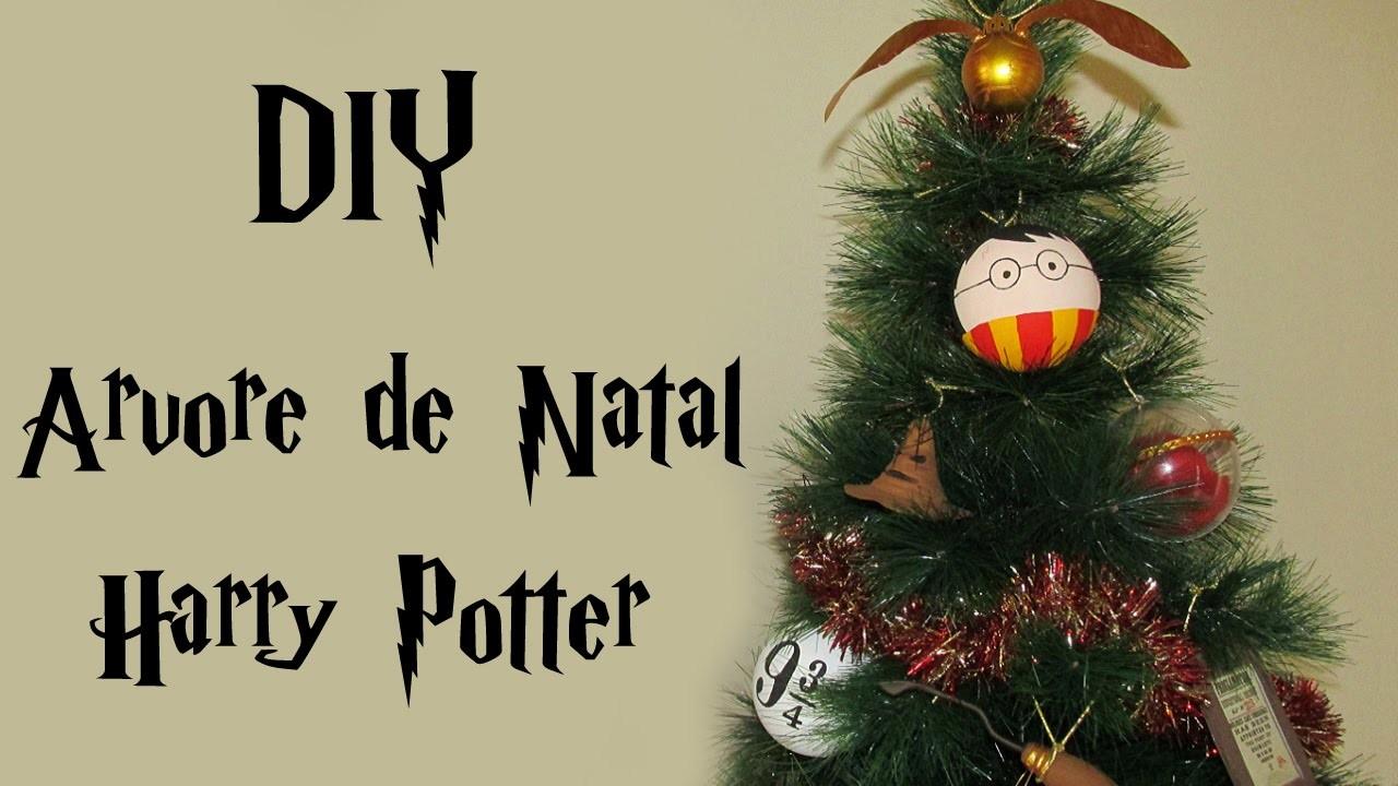 DIY: Árvore de Natal do HARRY POTTER (Christmas Geek Tree Decor - Enfeites Nimbus 2000, Pomo. )